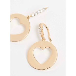 kate spade gold tone heart sparkly drop earring